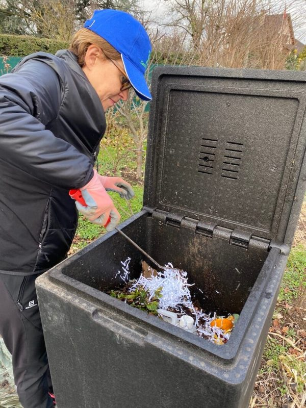 Composting provides you with rich organic matter